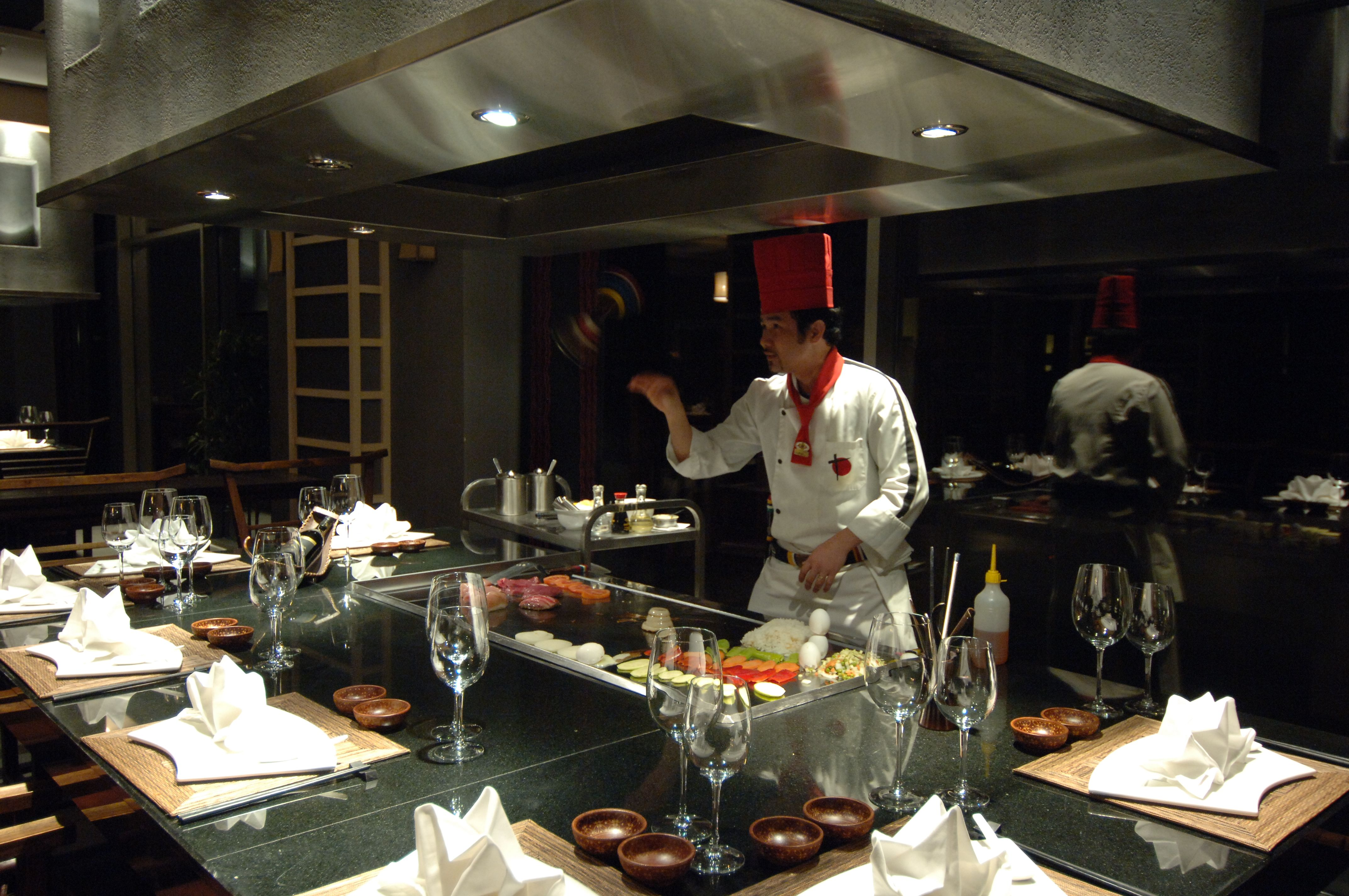 "Teppanyaki Hida 	""Teppan meaning"" iron sheet"" and ""Yaki"" meaning grill combine to offer you the one and only Teppanyaki restaurant that features selected food from the traditional Japanese cuisine at 6 ""hot tables""."