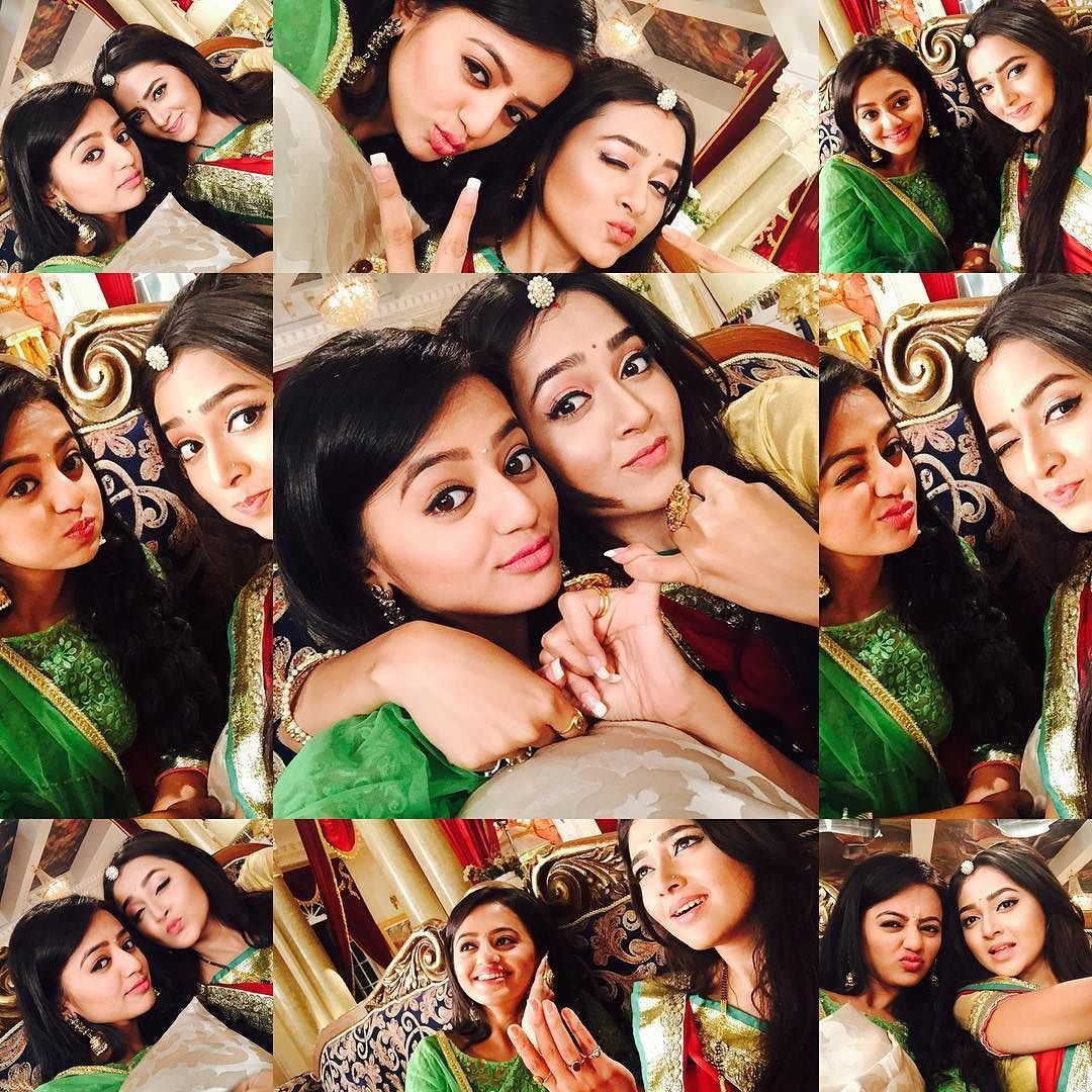 Helly Shah On Instagram Swaraginitogether Sistersforever Swaraginibackwithabang Tejaswiiiii Helly Shah Indian Star Indian Drama