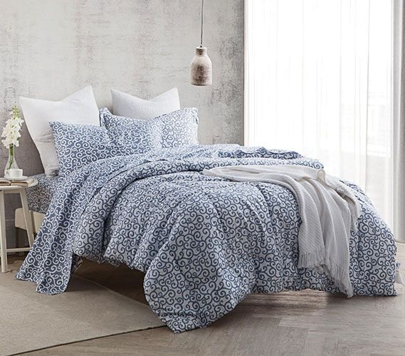 Gray College Comforter Designer Patterned Extra Long Twin Dorm