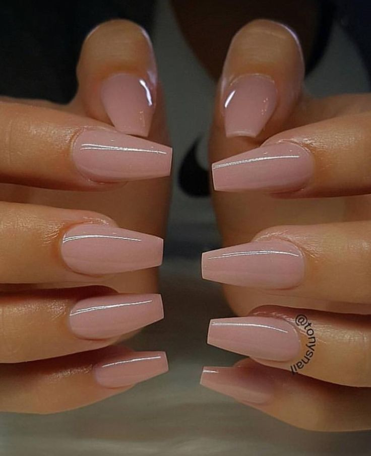 I love everything about these nails! Length, shape, color. #alles #this #color # …..