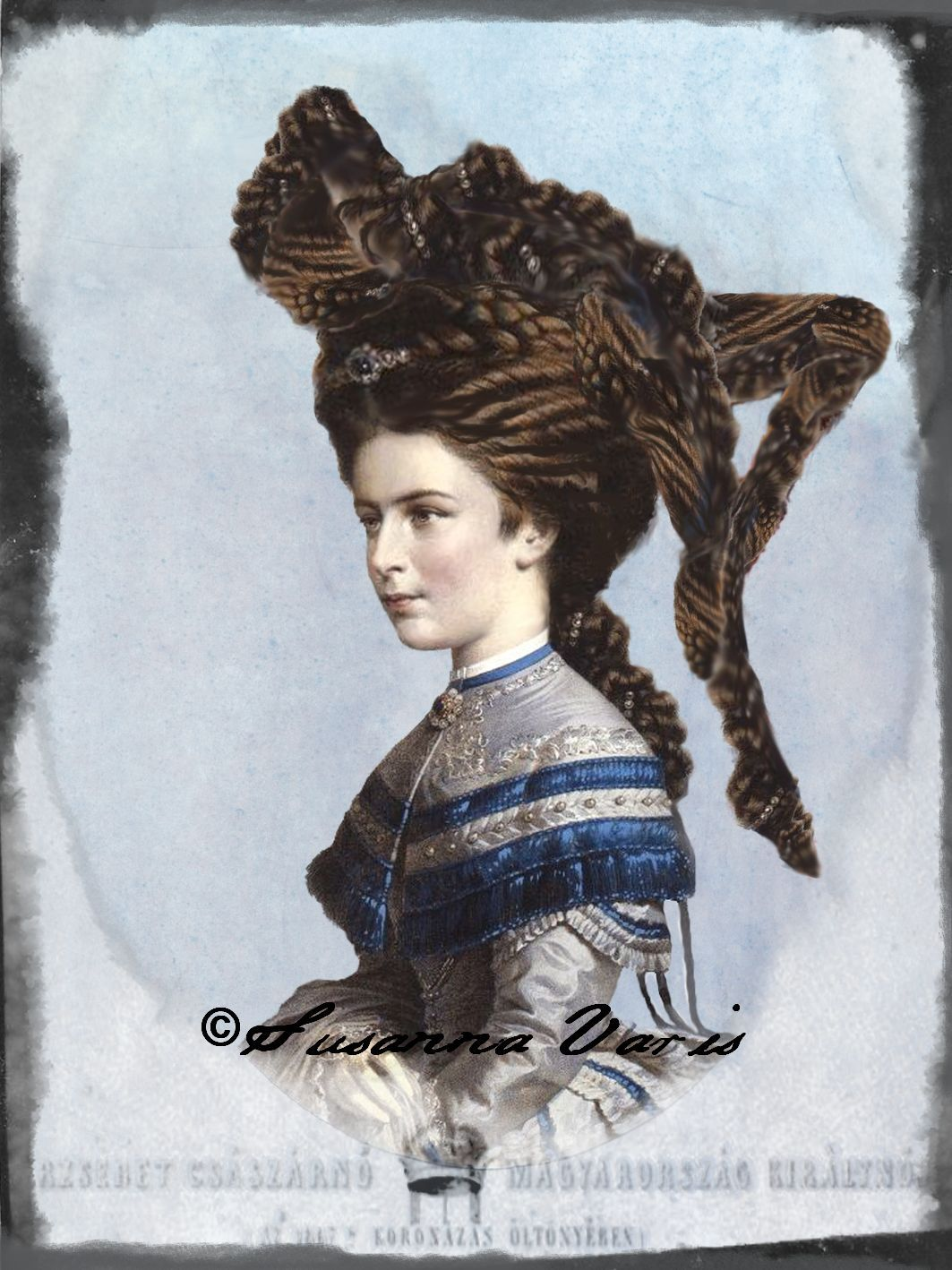 Body of Hair (The Tale of the Empress series) digital assemblage, 2015 Susanna Varis  Follow the Tale of the Empress here: https://www.facebook.com/media/set/?set=a.1088066074540071.1073741842.166258563387498&type=3