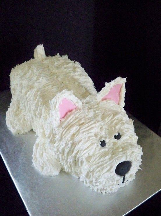 A Westie cake.  So cute! by sheryl