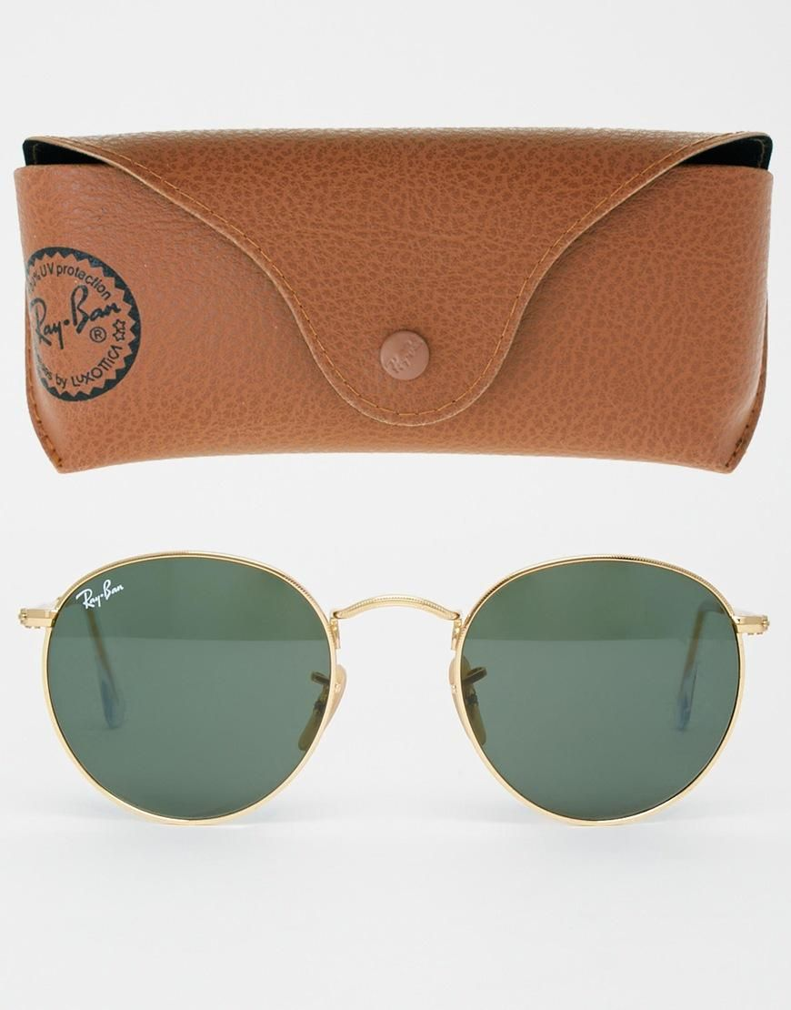 8a64653bfdc86 Ray-Ban   Ray-Ban Round Metal Sunglasses at ASOS   S u n n i e s in ...