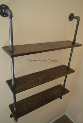 Rustikale Regale steunk shelf industrial shelves wall shelves industrial shelf