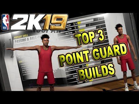 NBA 2K19 TOP 3 POINT GUARD BUILDS | Gaming | Nba, Building, Tops