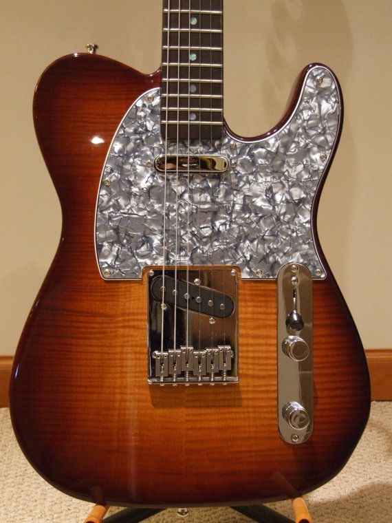 custom made flamed maple top telecaster style electric guitar solid sapele mahogany back. Black Bedroom Furniture Sets. Home Design Ideas