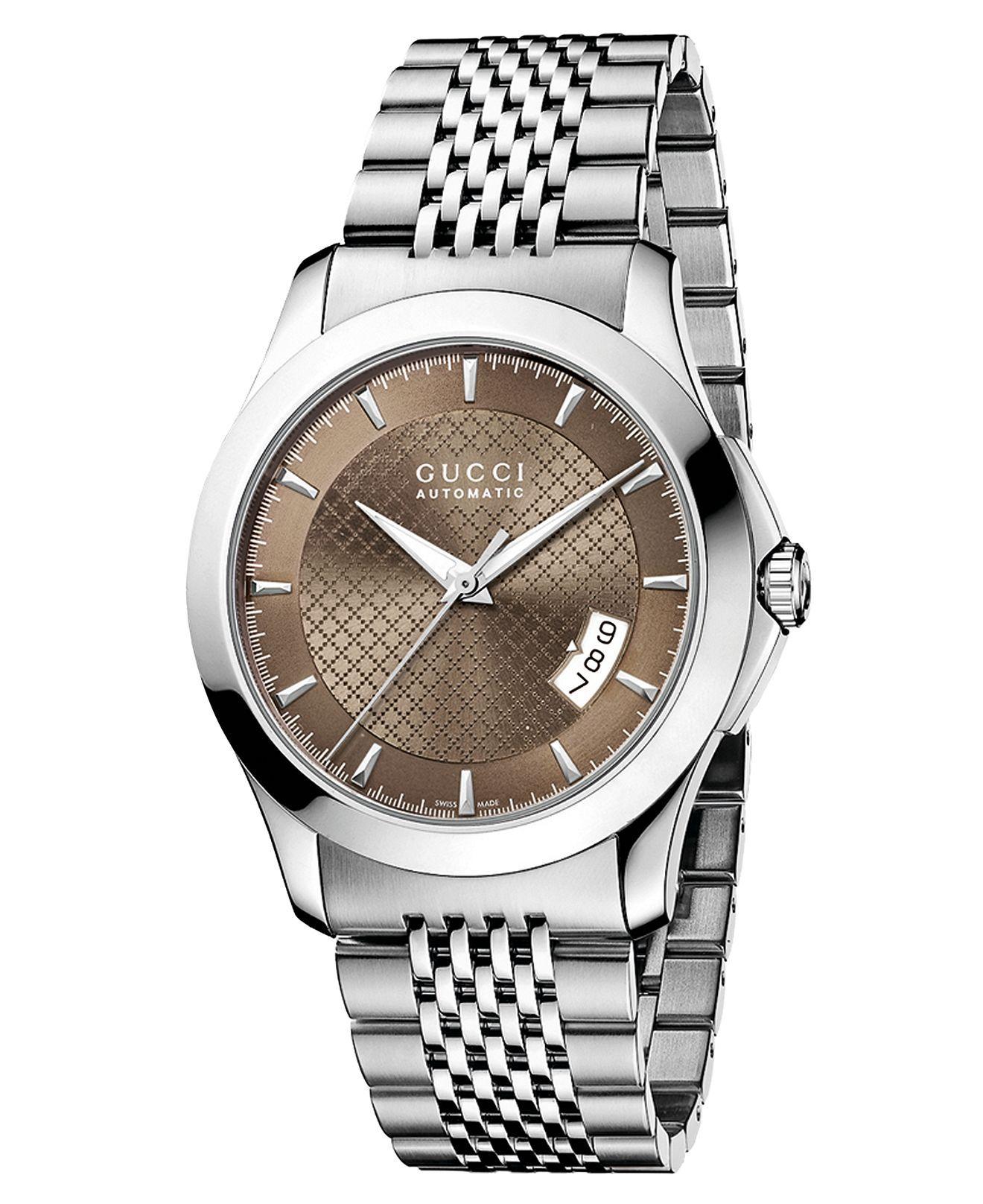 Gucci Watch, Men's Swiss Gtimeless Stainless Steel Bracelet 38mm Ya126412   Men's Watches