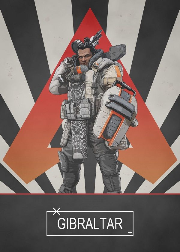 Apex Legends Radial Characters Displate Posters