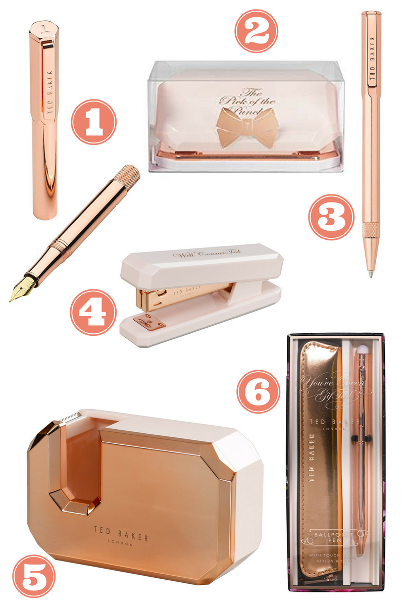 1c7598997 Ted Baker Rose Gold Stationary and free printables