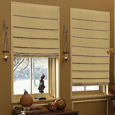 Custom Waterfall Roman Shade Jcpenney Home Roman