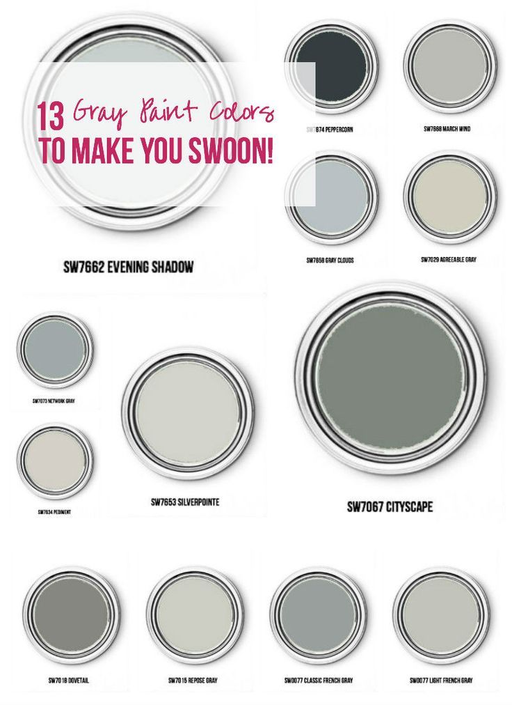 13 Gray Paint Colors To Make You Swoon Happily Ever After Etc Grey Paint Colors Grey Paint Paint Colors