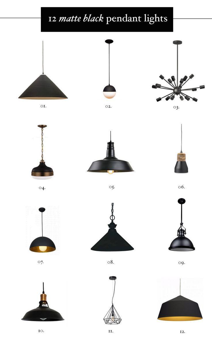 black pendant light