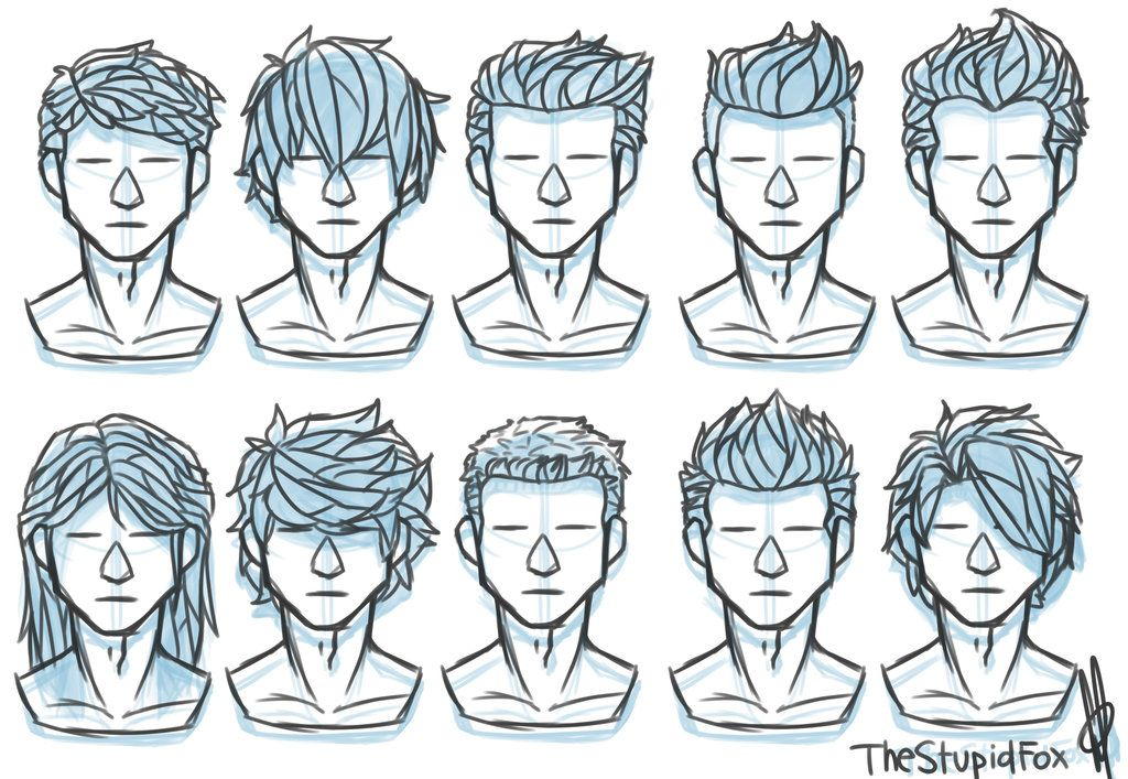 Random Hairstyles Male Drawing Hair Tutorial Drawings Pinterest Drawing Male Hair
