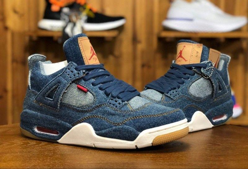 38f2cd023c3 Levi's x Air Jordan 4 Blue Denim Review | Jordan Shoes | Air jordans ...