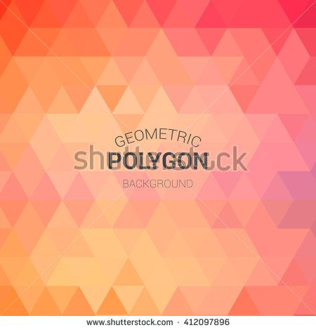 Grid Mosaic Background, Polygon Wallpaper, Triangular - stock vector