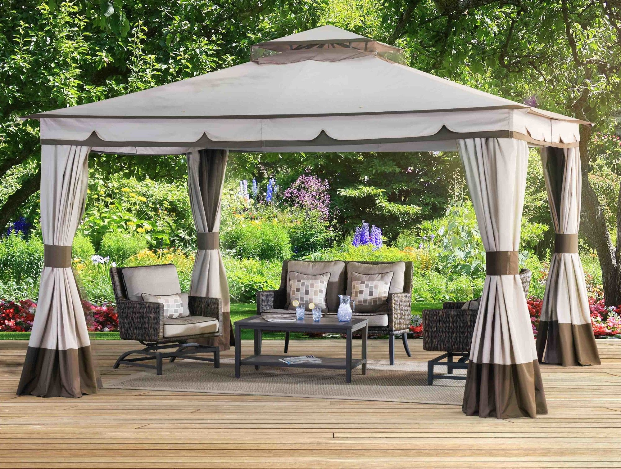 Sunjoy 10 Ft W X 12 Ft D Gazebo Patio Gazebo Pergola Patio Backyard