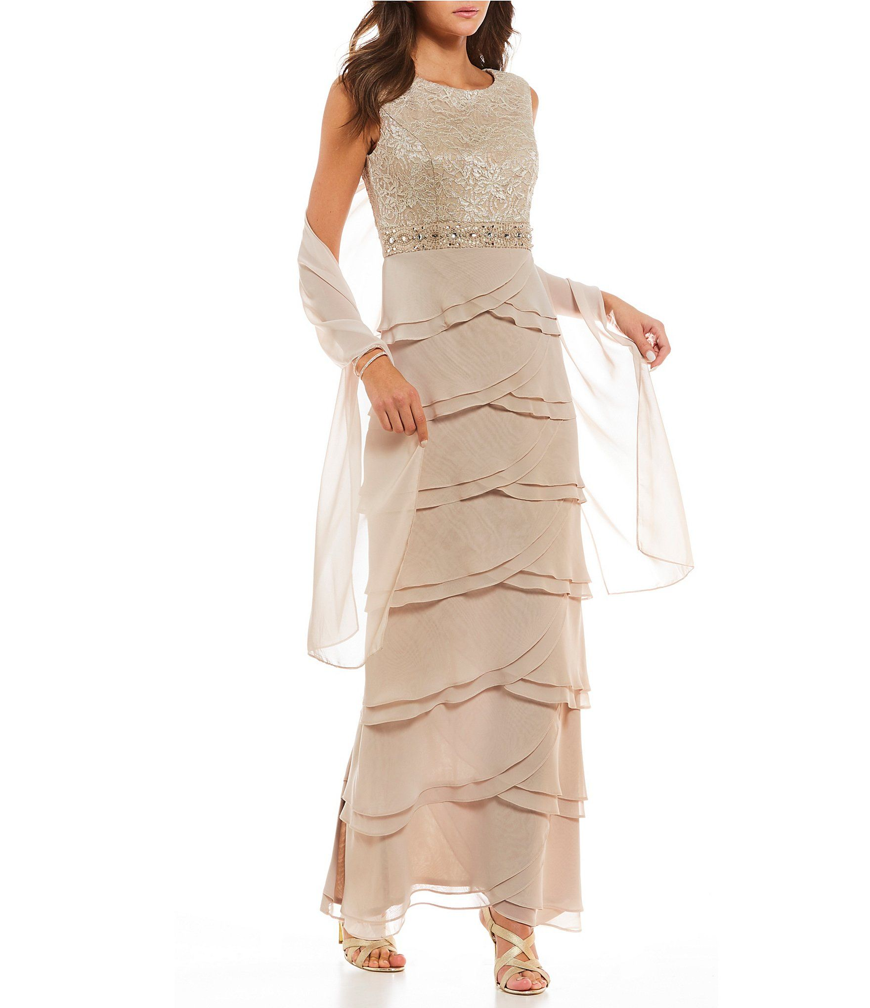 4100340aa062 Shop for Jessica Howard Layered Skirt Gown at Dillards.com. Visit  Dillards.com to find clothing, accessories, shoes, cosmetics & more.