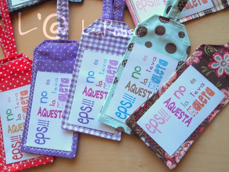 Etiquetas de equipaje Personalizado patrón de costura