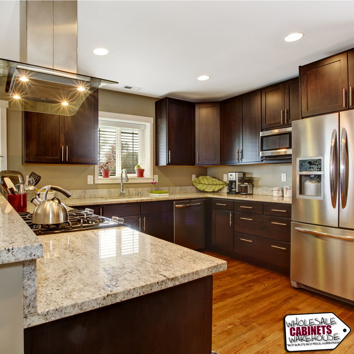 If You Aren T Sure How A Particular Style Will Look In Your Home We Offer Free Quarter Do Kitchen Design Gallery Brown Kitchen Cabinets Galley Kitchen Remodel