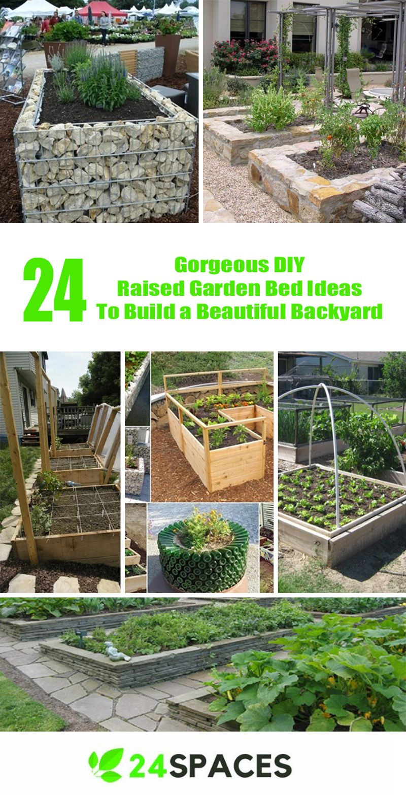 24 Gorgeous Diy Raised Garden Bed Ideas To Build A Beautiful Backyard Raised Garden Diy Raised Garden Building Raised Vegetable Garden