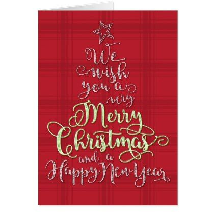 Modern Plaid And Calligraphy Christmas Card Holiday Card Diy Personalize Design Template Calligraphy Christmas Cards Custom Christmas Cards Holiday Card Diy