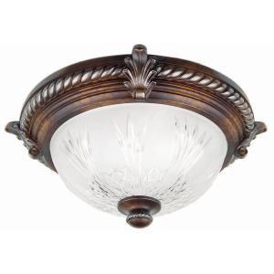 Bercello Estates 2 Light Volterra Bronze Flush Mount 08058