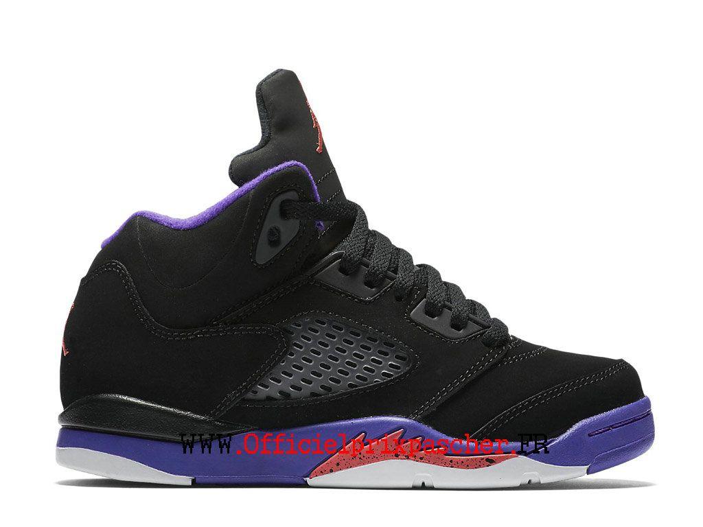 6610bb68a22 Air Jordan 5 V Retro GS Exercice Chaussures Officiel Jordan Pas Cher Pour  Femme Blanc noir violet 440893_017-Basket Air Jordan Site Officiel Moins  cher ...