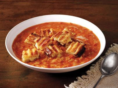 Ina Garten Soup Recipes easy tomato soup and grilled cheese croutons | recipe | tomato