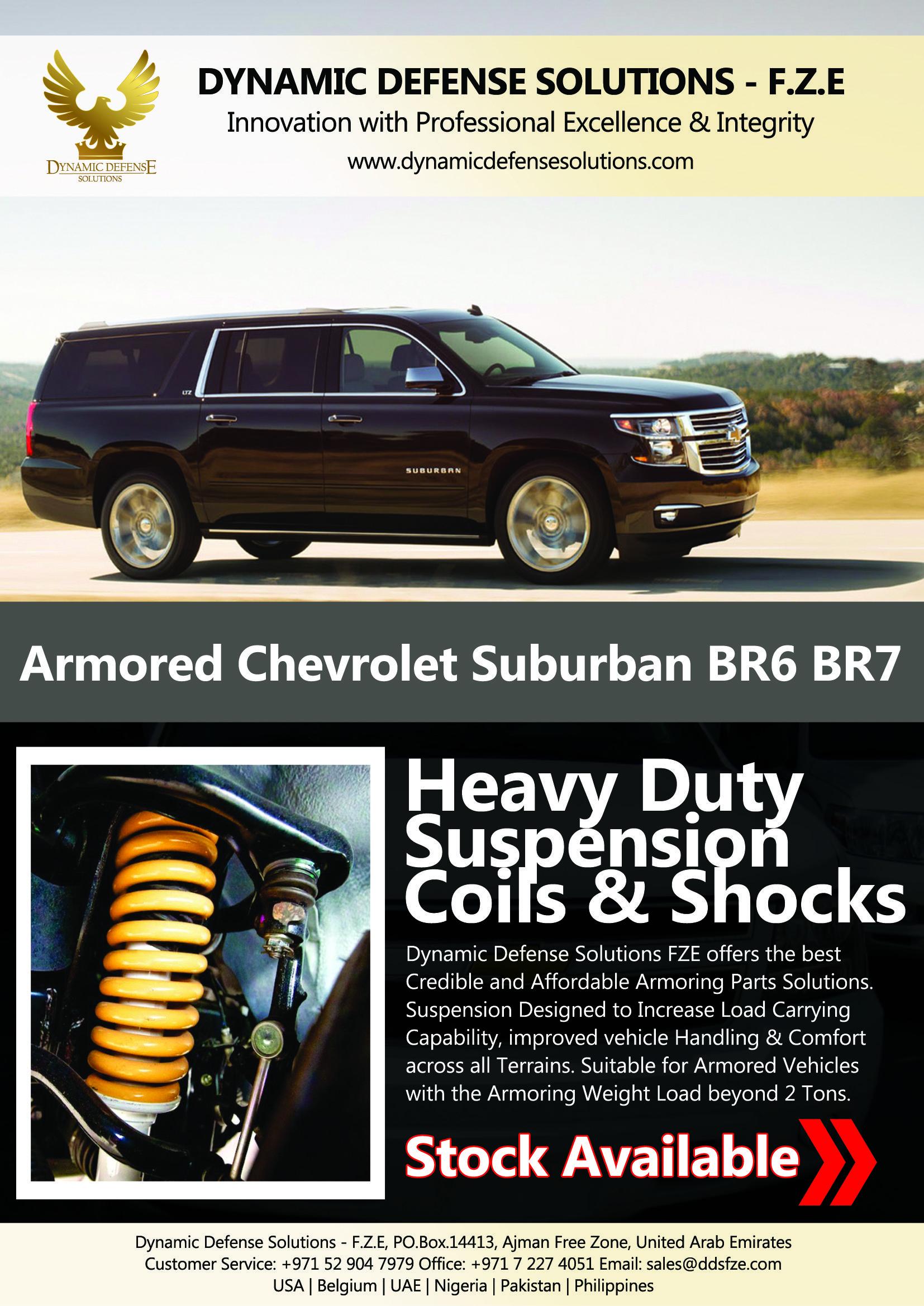 Heavydutysuspension Chevroletsuburbansuspensionb6 Bulletproofchevroletsuburbansuspension Armoredchevroletsuspe Armored Vehicles Chevrolet Suburban Vehicles