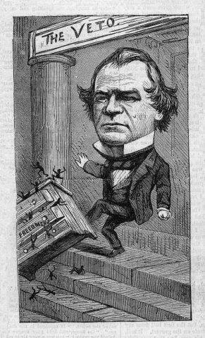 Kicking Freedmen S Bureau Thomas Nast 1866 Reconstruction