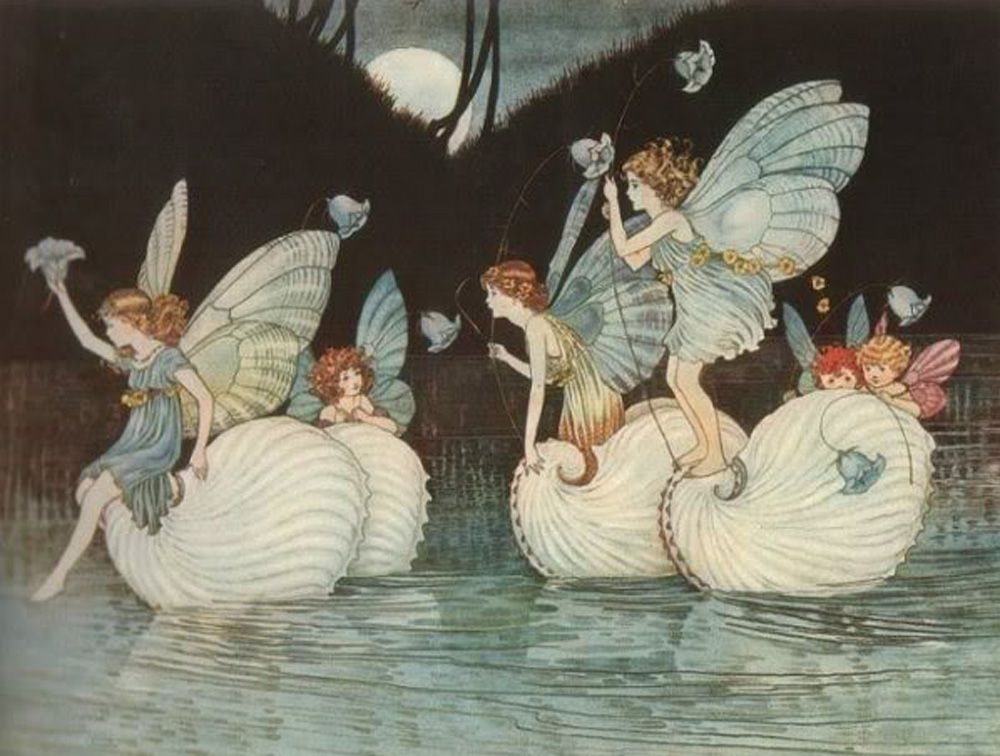 Ida Rentoul Outhwaite worked magic in the early 1900's with her gentle colorings of fairies and elves. *~❤•❦•:*´`*:•❦•❤~*