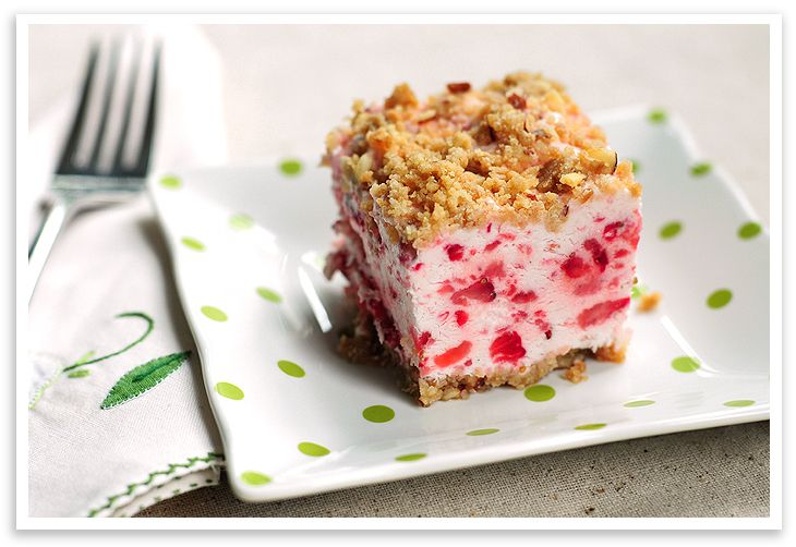 Frozen Strawberry Squares
