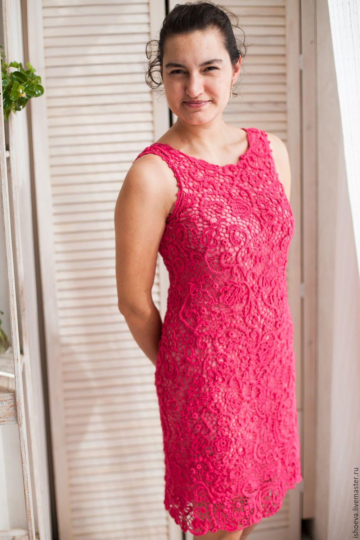 Купить Малиновое платье в интернет магазине на Ярмарке Мастеров | 钩 ...