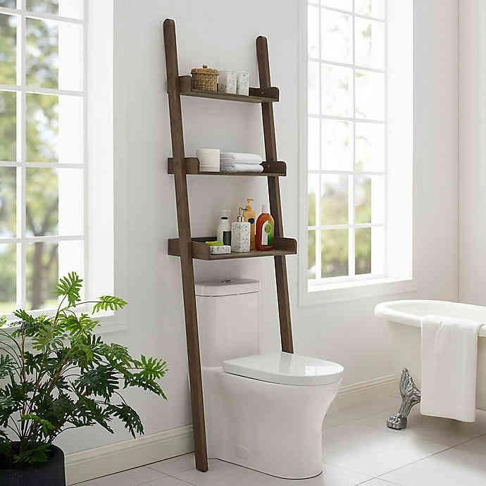 Haven™ No Tools Slim Bamboo Over-the-Toilet Space Saver