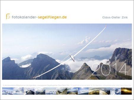 Der neue Fotokalender Segelfliegen mit faszinierenden Aufnahmen von Claus-Dieter Zink ist Ihr idealer Begleiter durch das Jahr 2014.  Entdecken Sie den Traum vom Fliegen in 12 Bildern voller Ästhetik, eingefangen mit der Kamera von einem der besten Segelflug-Fotografen der Welt. Die Fotokunst von Claus-Dieter Zink präsentieren wir Ihnen im bewährten Großformat 64 x 48 cm.