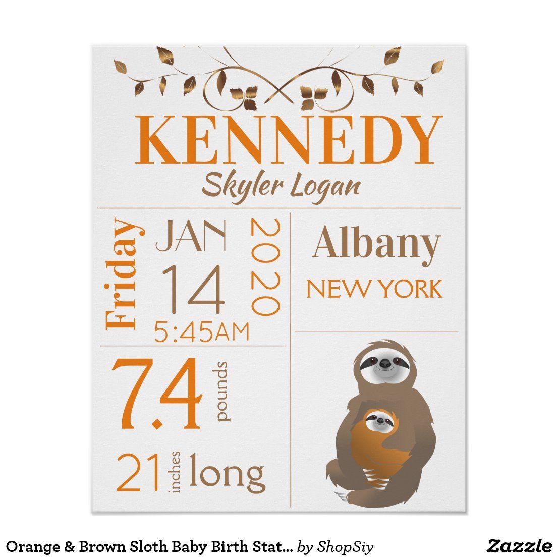 Baby Sloth Nursery Wall Art
