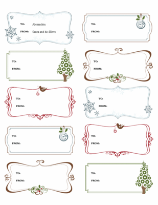 Image Of Christmas Gift Labels Template For Microsoft Word 2013  Labels Word Template