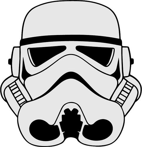 Storm Trooper Star Wars Caretas Molde Star Wars