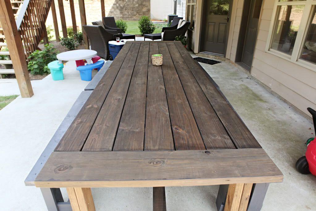 Varnish Virgin Diy Patio Table Outdoor Farmhouse Table Outdoor