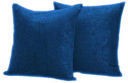 """Faux Suede 2 pack Decorative Pillow covers 20""""x20"""" (Royal…"""