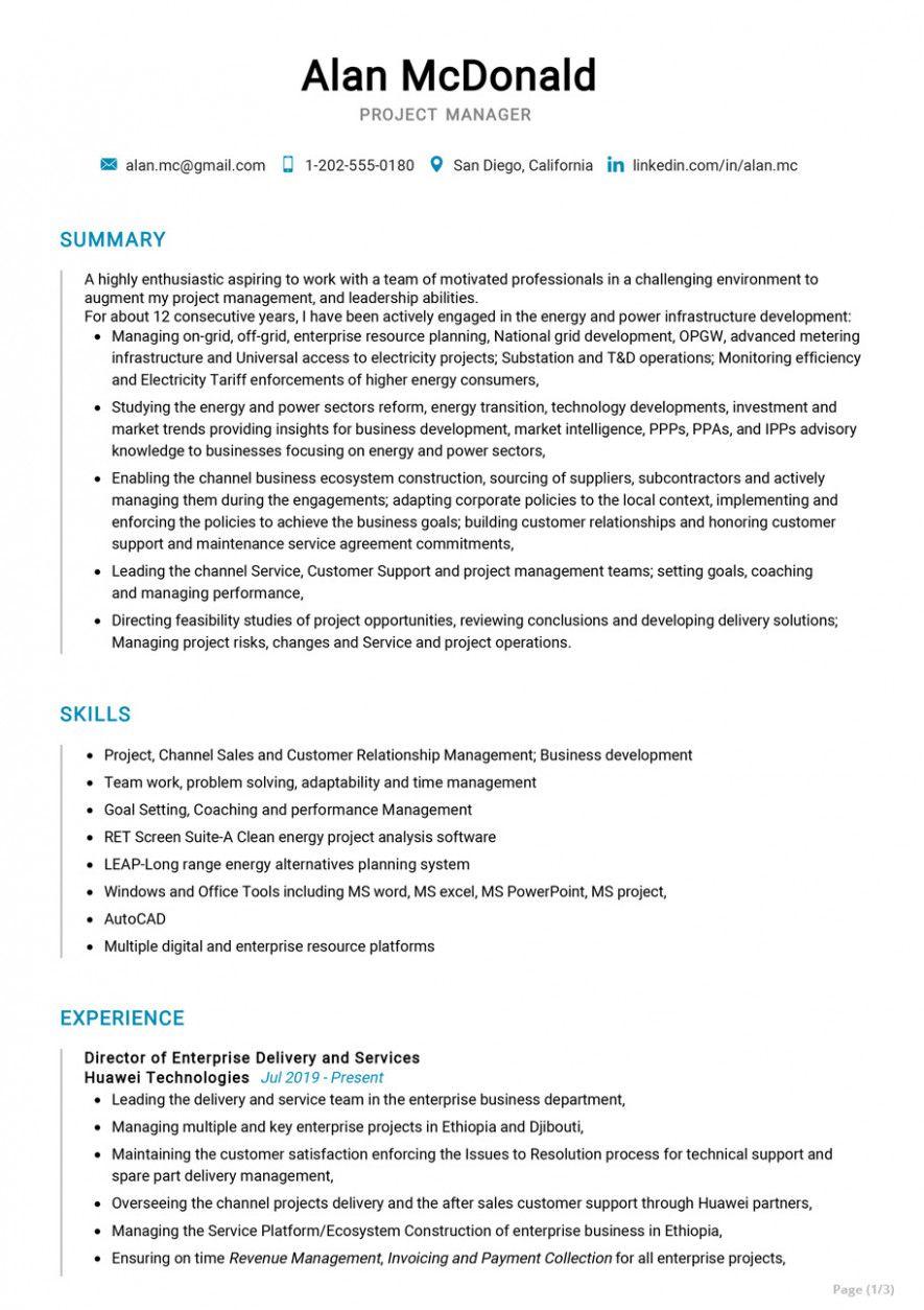 15 Technical Undertaking Supervisor Resume Pattern