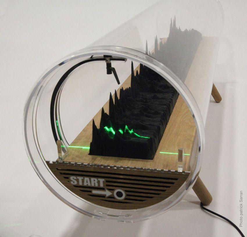 President Obama's voiceprint - 3D geprinte geluidsgenerator - http://dailym.net/2013/11/president-obamas-voiceprint/