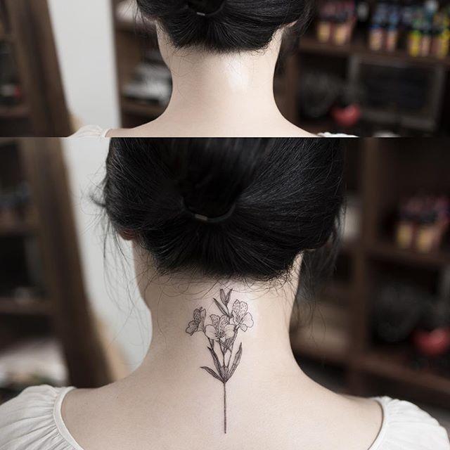 Alstroemeria Leukoplakia Cover Up Alstroemeria Flowertattoo Coveruptattoo Tattoo Tattoos Ink Hongdam Tattoois Body Art Tattoos Twin Tattoos Bff Tattoos