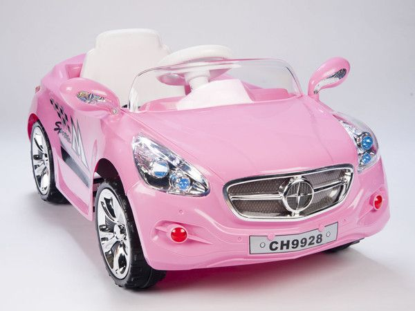 Pink European Autobahn AMG Style Ride On Race Car W/Remote Control and MP3 - The European AMG Roadster style 12 volt ride on car a lot of fun for any toddler to drive and can be just as entertaining for any adult who wants to play along with the included full function wireless remote control.