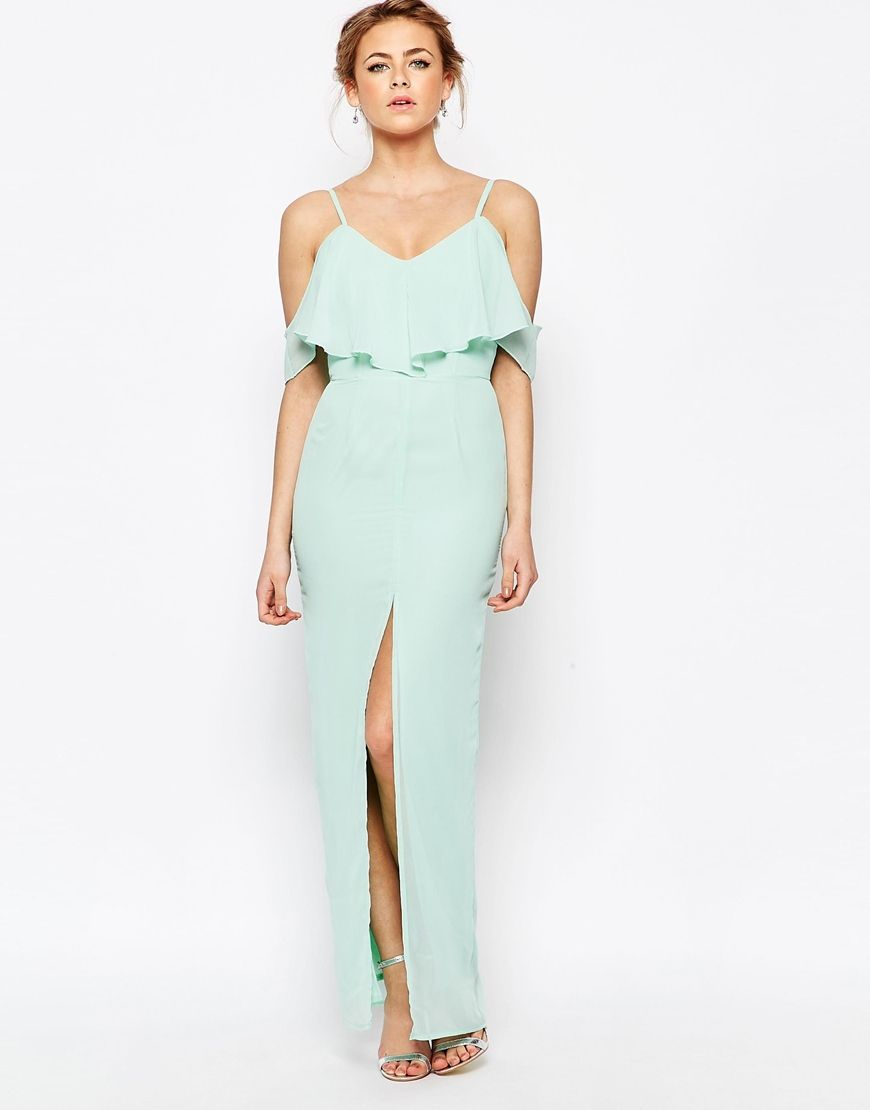 Light aqua maxi dress - 12 Dresses to Wear to a Summer Wedding { included Evening Dresses } itakeyou.co.uk