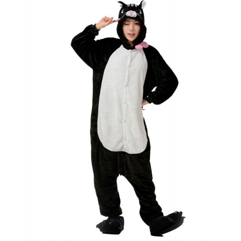 Black Cat Kigurumi Onesies Pajamas Costumes for Women   Men  54a507041