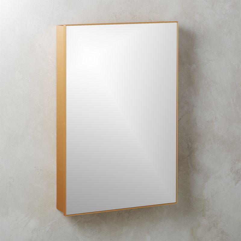 Shop Infinity Recessed Mirror Cabinet Large Brass 24 X36