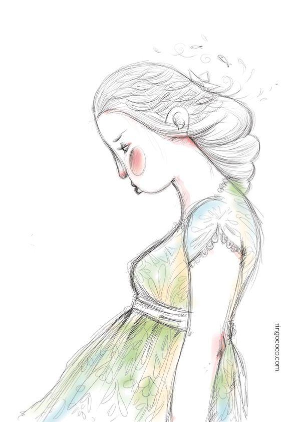 https://flic.kr/p/tvDsSx | evening doodle ringococo illustration