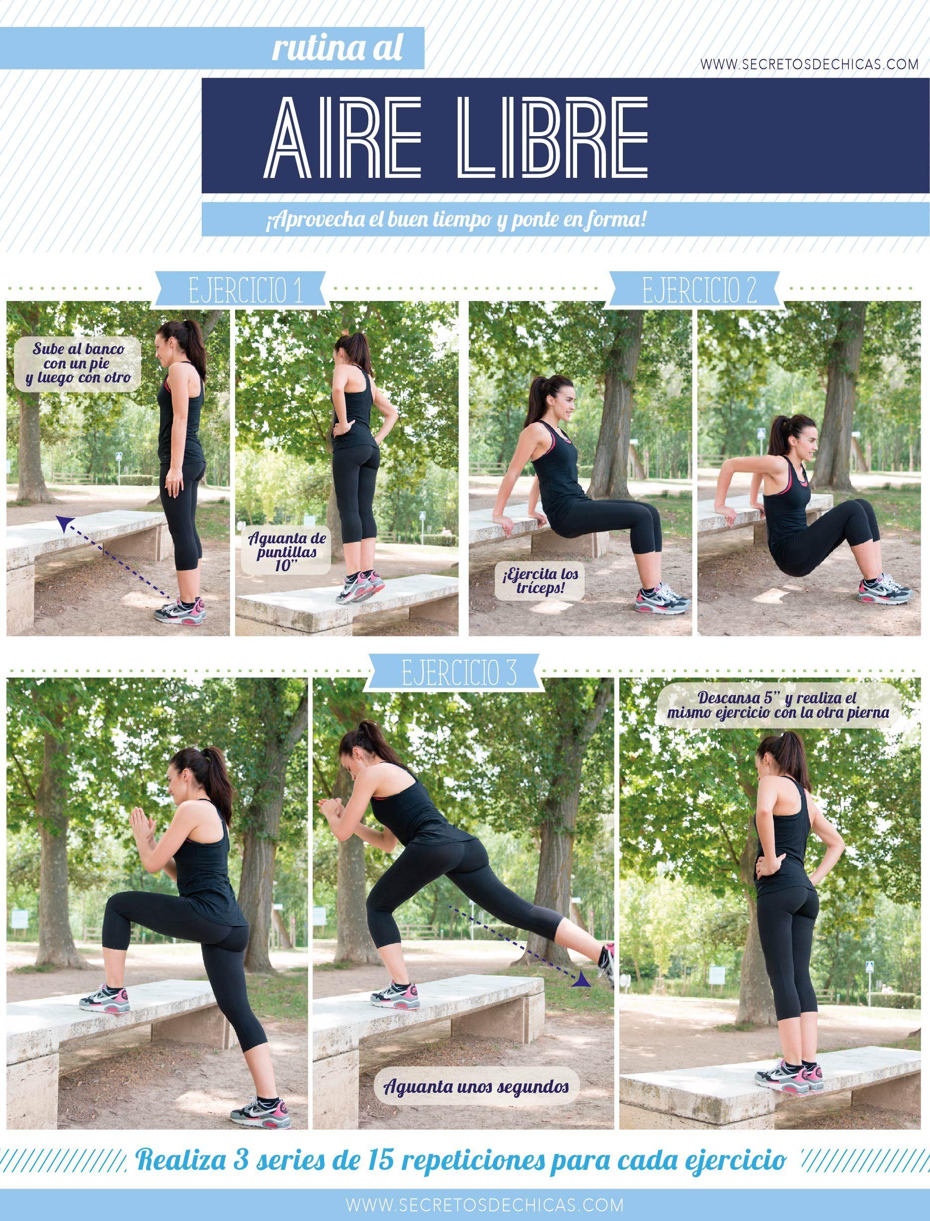 al aire libre rutina de ejercicio