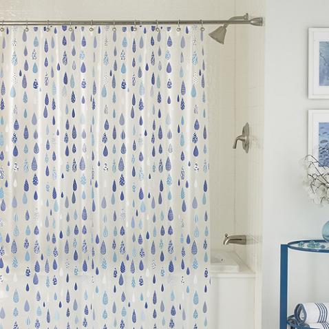 April Showers 70 Inch X 72 Inch Shower Curtain Desenler